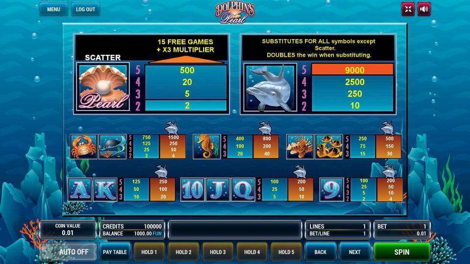Изображение игрового автомата Dolphin's Pearl 3