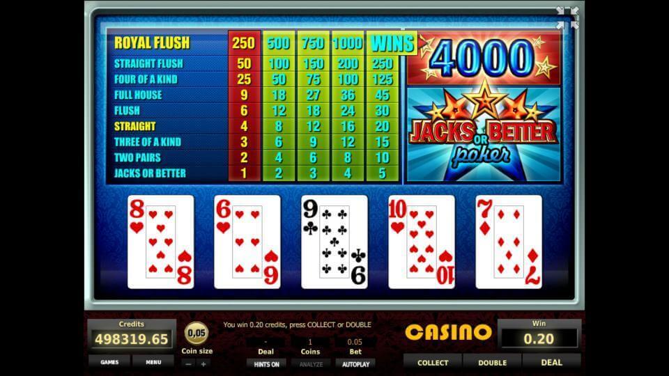 Изображение игрового автомата Jacks or Better Poker 3