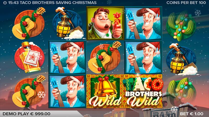 Изображение игрового автомата Taco Brothers Saving Christmas 1