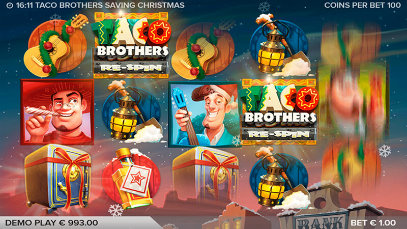 Изображение игрового автомата Taco Brothers Saving Christmas 2